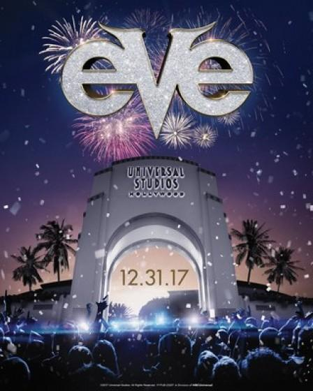 The Countdown to 2018 Begins at Universal Studios Hollywood as The Entertainment Capital of L.A. Hosts EVE, Hollywood's Biggest New Year's Party and Fireworks Finale on December 31