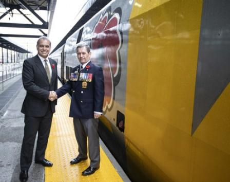 VIA Rail and Legion invite canadians to remember