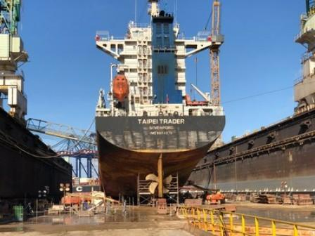 Grand Bahama Shipyard Dry-Docks First Ship Following Hurricane Dorian