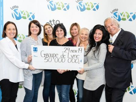 $50,000,000 - Just in time for Black Friday: Six women celebrate their Lotto Max jackpot win