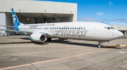 Alaska Airlines, 700 local business leaders celebrate Boeing's 100th birthday
