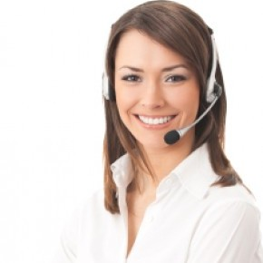 woman call centre operator and booking centre