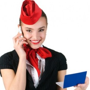 International flight stewardess